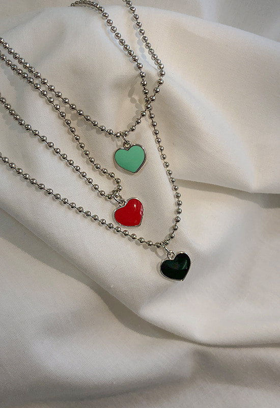 하트블링 necklace (3color)